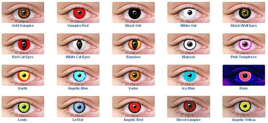 colored contacts for halloween colored contacts for halloween